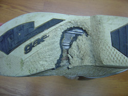 Damaged Boot